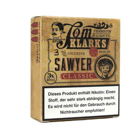 Tom Klarks - Tom Sawyer KLASSIK 3 x 10 ml Box 3mg