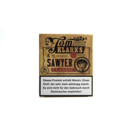 Tom Klarks - Tom Sawyer KLASSIK 3 x 10 ml Box 6mg