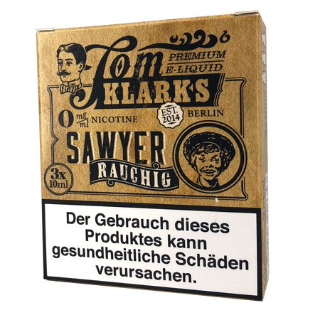 Tom Klarks - Tom Sawyer RAUCHIG 3 x 10 ml Box 0mg
