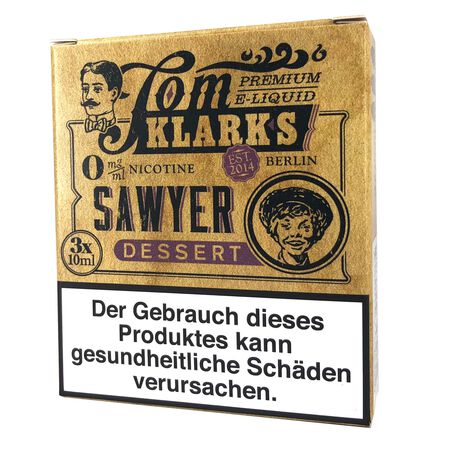 Tom Klarks - Tom Sawyer DESSERT 3 x 10 ml Box 18mg
