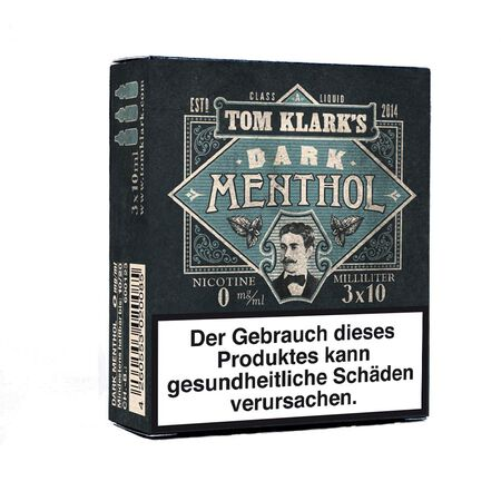 Tom Klarks - DARK MENTHOL 3 x 10 ml Box 18mg